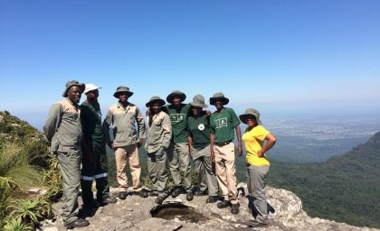 The Blyde restoration custodianship team, on top of the world!